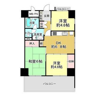 ライオンズマンション江戸堀 3階 3DK