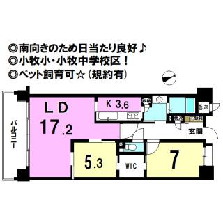 ロイヤルクレスト小牧中央 4階 2LDK