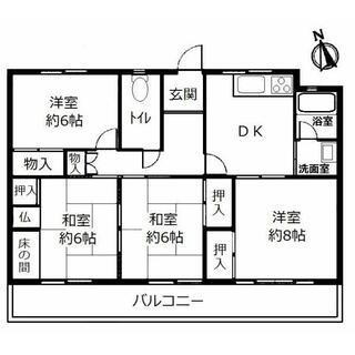 白山住宅 4階 4DK