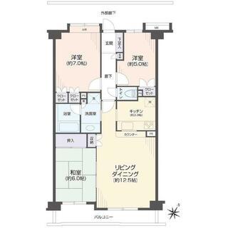 コスモ鎌ヶ谷ガーデンスクエアA棟 2階 3LDK