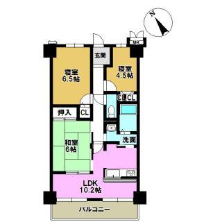 レイクイーストCITY弐番館グレーシィ稲枝 4階 3LDK
