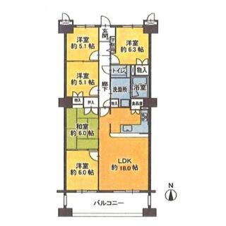 レインボーティアラ豊山 5階 5LDK