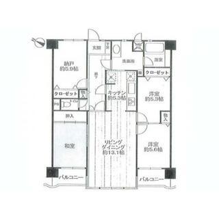 ライオンズマンション相模台第6 3階 3SLDK