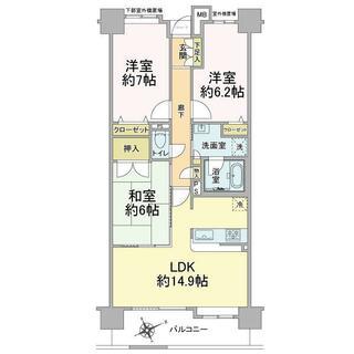 ゼファー習志野バーズアリーナ 2階 3LDK