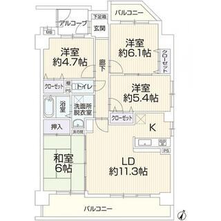 宝マンション千代田橋第3 3階 4LDK