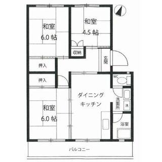 名鉄旭前ハイツ 4階 3DK