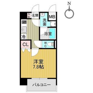 ベラジオ五条堀川Ⅲ 3階 1K