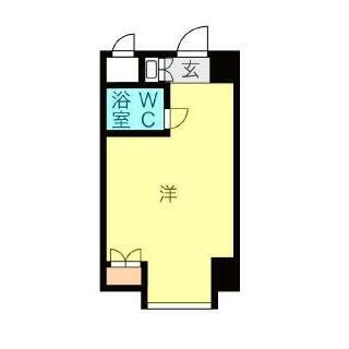 金山ハイホーム 6階 ワンルーム
