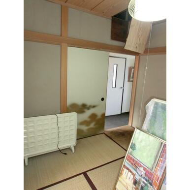 和室4.5帖 天井修繕要