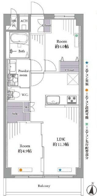 全居室に収納スペースが設けられており、お部屋を広々と利用できます