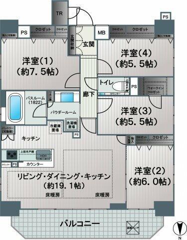 【間取り】各居室収納スペースがあり、お部屋をより広くお使いいただけるほか、お好みのレイアウトを楽し