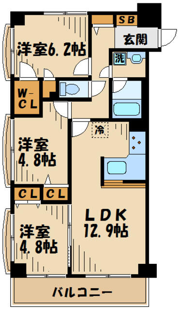 ★収納充実の3LDK★