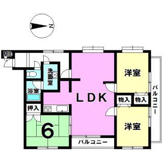 キングスコート豊田下林参番館 2階 3LDK