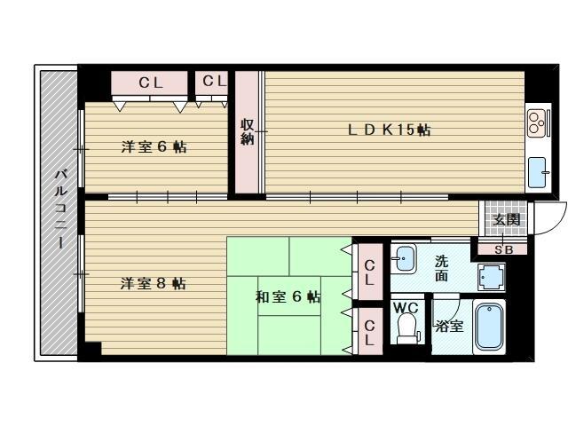 3LDKのお部屋です