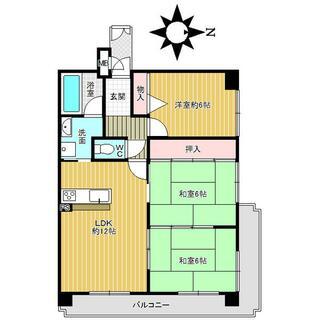枚岡レックスマンション 6階 3DK