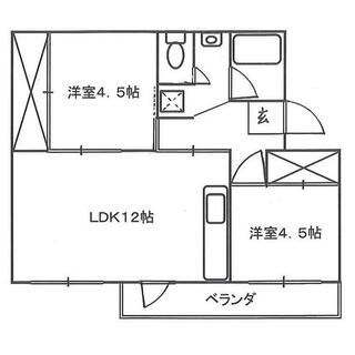 加茂川団地 12号棟 5階 2LDK