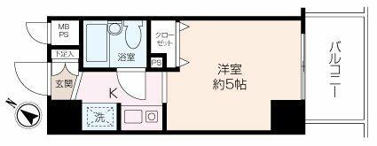 南東向き6階のお部屋で、陽当たり、眺望良好な物件です。利便性の良い立地で、一人暮らし始めませんか!