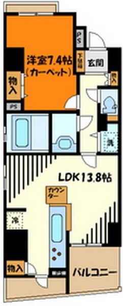 分譲マンションの一室です