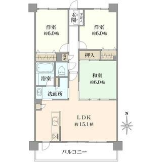 コニファーコート松飛台 2階 3LDK