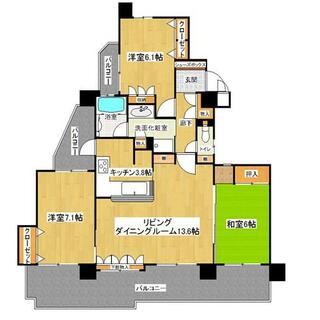 チサンマンション名東2番館 3階 3LDK