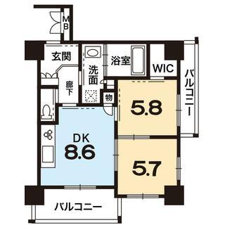 ビジュール琵琶湖京阪浜大津 5階 2DK