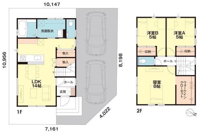 フレンドリーハウス分譲住宅情報【富山でローコスト・新築分譲をお探しなら】間取図