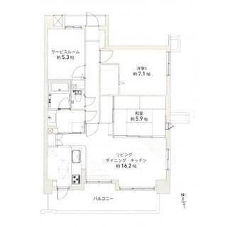 野村ステイツ長戸井町カーサ・ロッソ 1階 2LDK