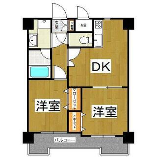 ルネス・ロワール東公園 11階 2DK