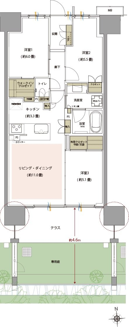 TOKYO キラリスナ PROJECT 間取り D2g type