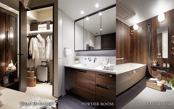 WALK IN CLOSET/POWDER ROOM/BATHROOM