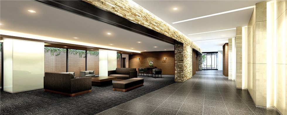 ■Main Entrance Hall & Owners Lounge/Concierge Counter