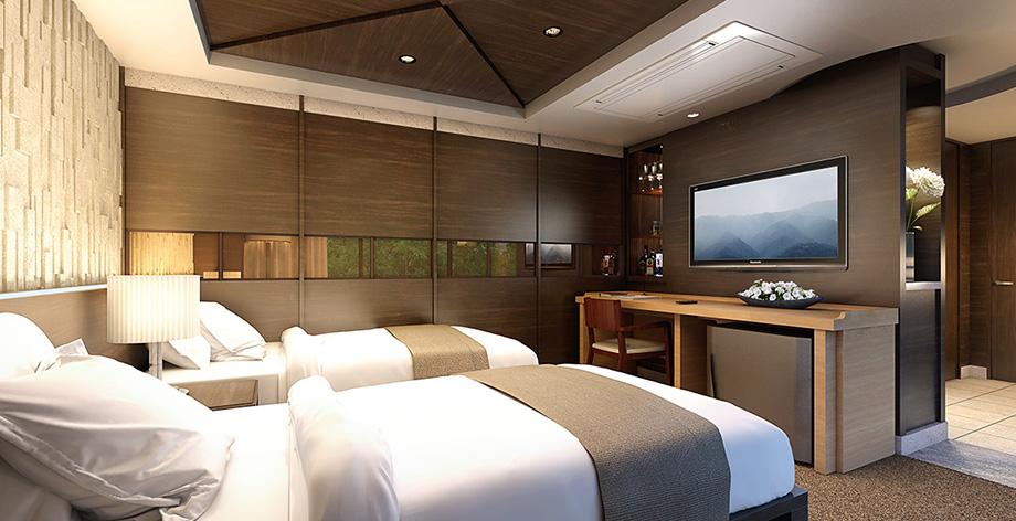 ゲストルーム完成予想図<br /> 来客など、大切な方にお使いいただけるお部屋をご用意。