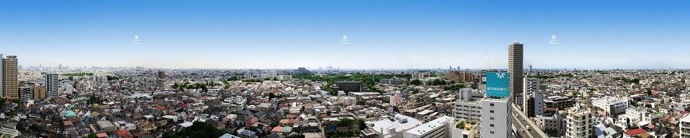 現地20階相当からの眺望写真<br /> (2016年10月撮影)<br /> ※眺望等は階数・各住戸により異なり、周辺環境・眺望は将来変わる場合があります。また、季節・天候によっても異なる場合があります。