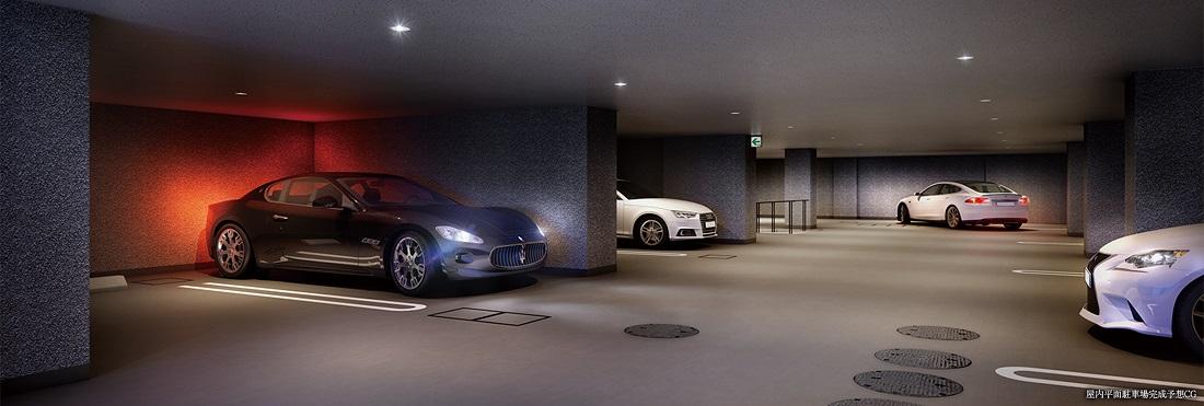 屋内平面駐車場完成予想CG