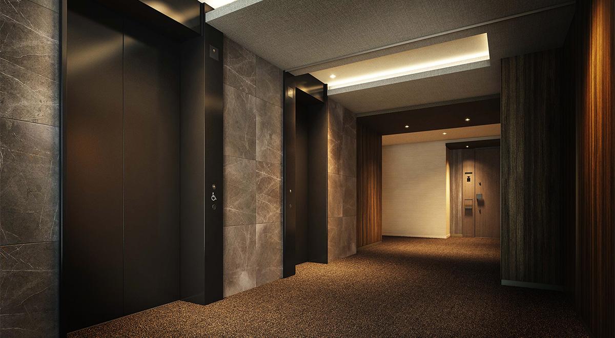 エレベーターホール完成予想図