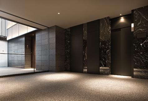 エレベーターホール完成予想CG