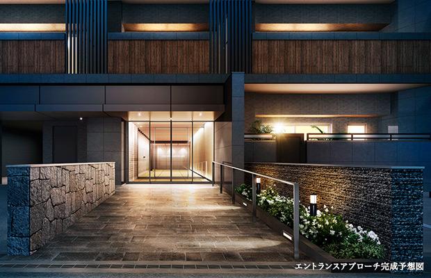 サンメゾン姫路古二階町(エントランスアプローチ完成予想図)