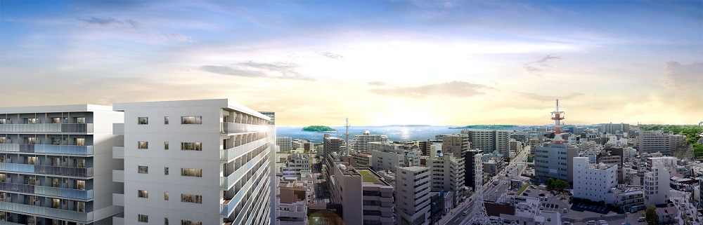 バウス横須賀中央(建物外観完成予想CG)
