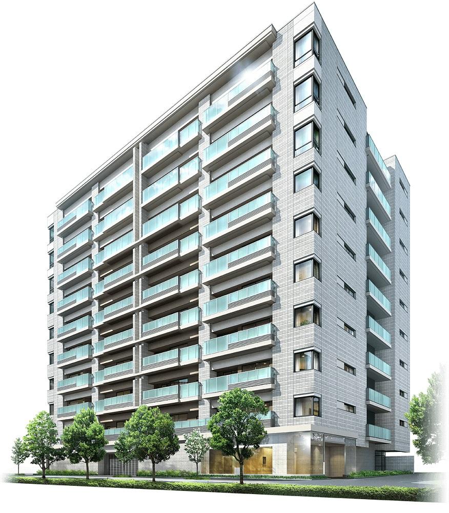 プラウド横浜桜木町(外観完成図)