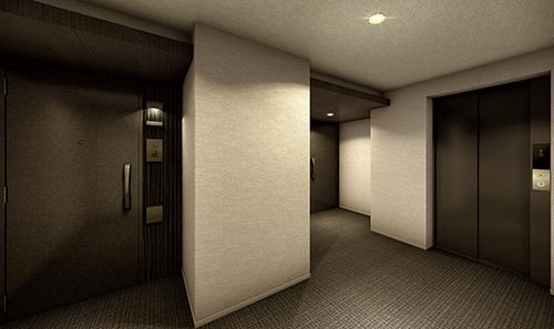 内廊下完成図