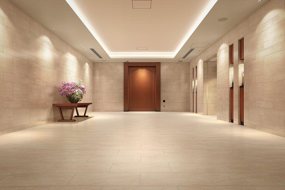 エントランスホール完成予想図<br /> タワーという邸宅であるために。その品格に宿る迎賓思想。