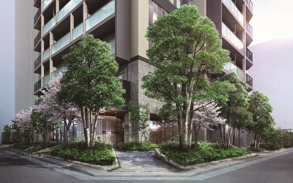 ブリリア上野ガーデン(アプローチ外観完成予想CG)
