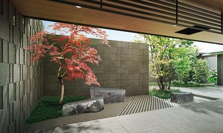 レ・ジェイド茨木東中条(庭園完成予想図)
