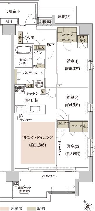 室外機置場面積:0.81㎡