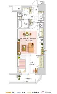 ※住居専有面積にはメーターボックス面積0.52㎡含む