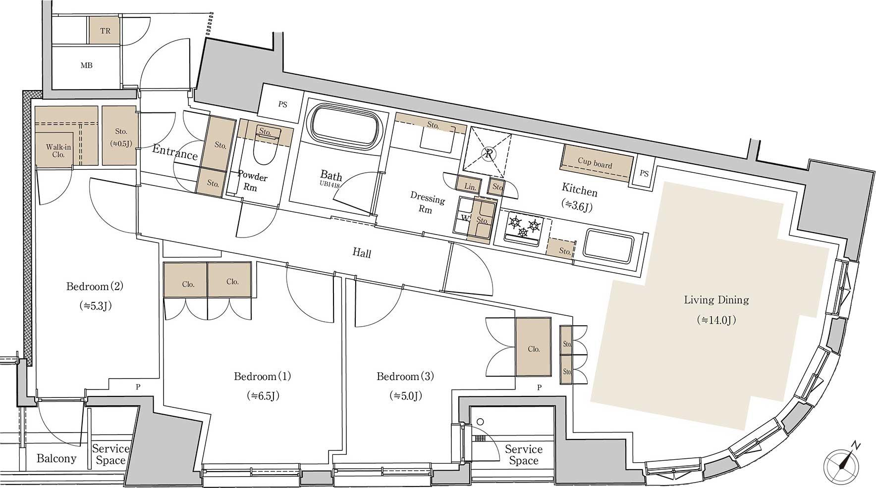 トランクルーム面積:0.27㎡※専有面積に含む