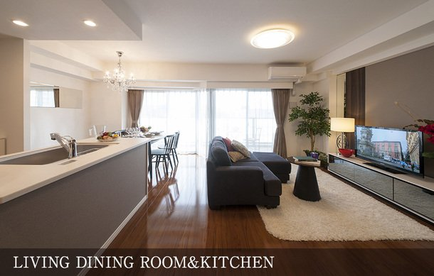 LIVING DINING ROOM&KITCHEN