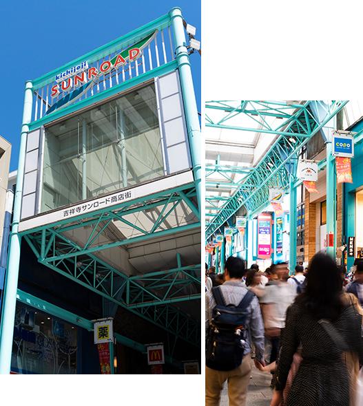 サンロード商店街[商店街]  (約2.2km)